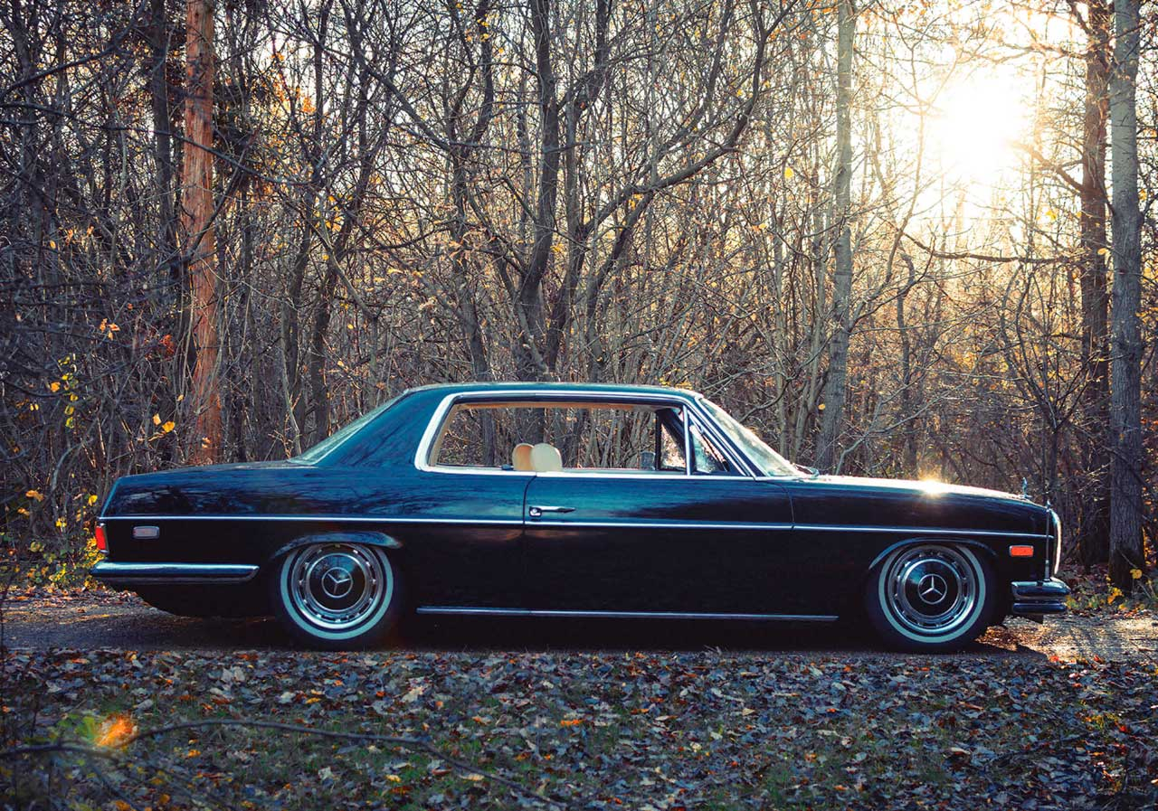 Tuned 1973 Mercedes-Benz 280CE W114/C114 Turbo Diesel OM606 engined - Drive